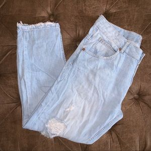 Zara Ripped Mom Fit Jeans Z1975 - Size 8